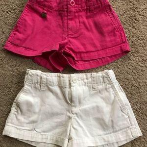 Set of Girls Polo Ralph Lauren shorts